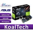 ASUS GeForce 210 1024MB DDR3 / 64bit DVI / HDMI PCI-E (589 / 1200) (Low Profile)