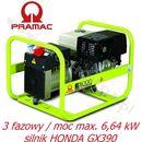 E 8000 THI Agregat prądotwórczy trójfazowy PRAMAC (4,93 kW / 6,64kW) + OLEJ + DOSTAWA GRATIS