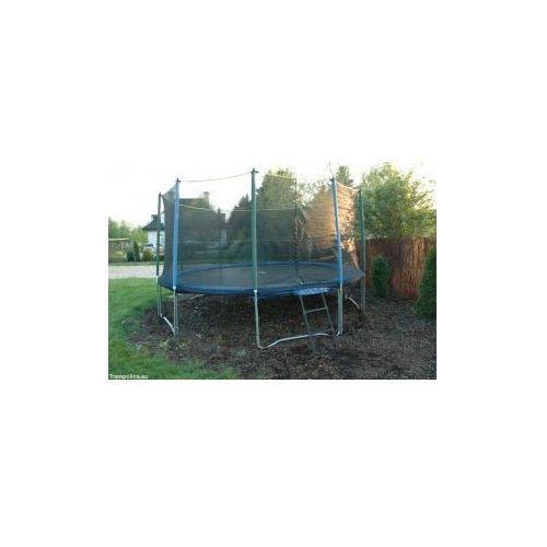 EURO Pro 427 cm - Trampolina ogrodowa z siatką zabezpieczającą i drabinką