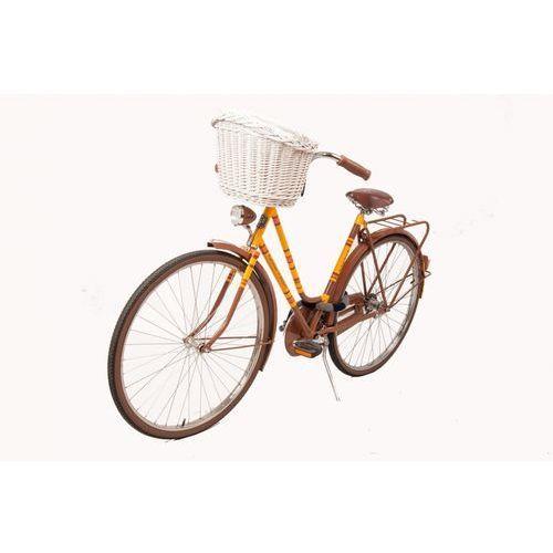 Biały wiklinowy koszyk na rower Allegro