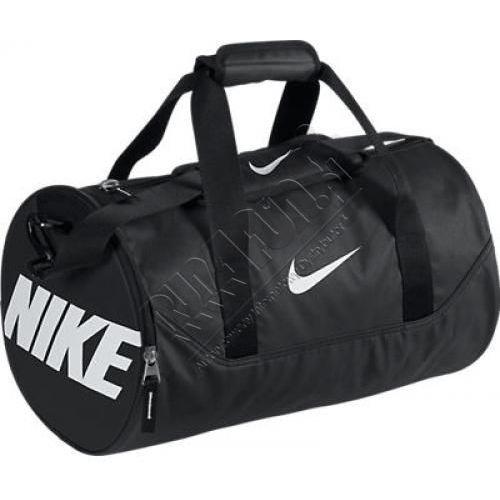 Mała torba treningowa - Nike Team Training Mini Duffel Bag, kolor: czarny/biały