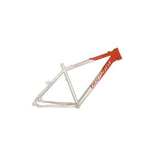 Rama MTB Boplight 17' biało czerwona